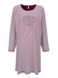 Chemise de nuit à motif rayé intemporel