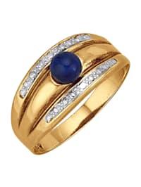 Ring med kula av lapis lazuli