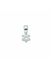 Damen Silberschmuck 925 Silber Anhänger mit Zirkonia