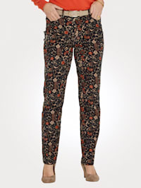 Trousers in a floral print