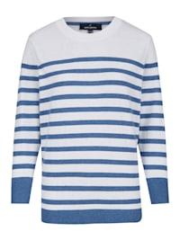 Sommerliches Sweatshirt mit Streifenmuster