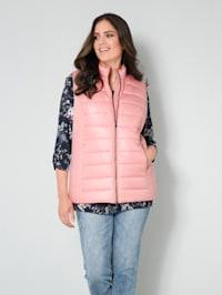 Prošívaná vesta s dvousměrným zipem