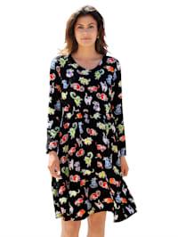 Kleid mit Katzen-Druck allover