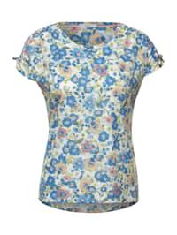 T-Shirt mit Raffungen