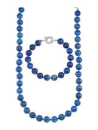 2-delige sieradenset van lapis lazuli