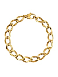 Bracelet en maille jaseron en or jaune 585