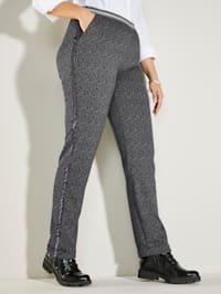 Pantalon en maille chinée
