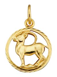 Pendentif Signe du zodiaque Bélier en or jaune 585