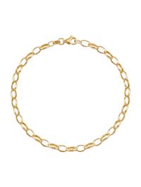 Bracelet maille forçat en or jaune 375