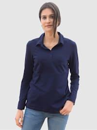 Shirt met korte knoopsluiting