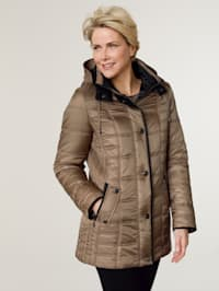 Jacket with contrast detailing