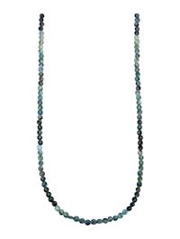 Turmalin-kjede med lås i sølv 925, gullfarget