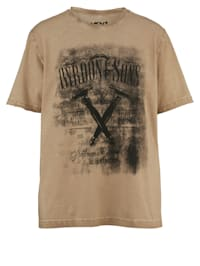 T-Shirt in Oil Washed Optik