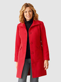 Manteau à boutons décoratifs et col montant
