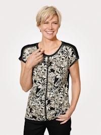 Tričko s ozdobnými pletenými pásy