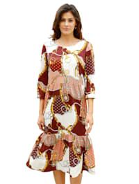 Kleid mit Kettendruck