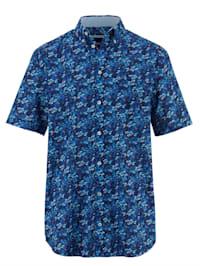Hemd mit Druckmuster rundum