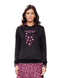 Sweatshirt met print voor