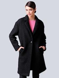 Manteau en matière douillette