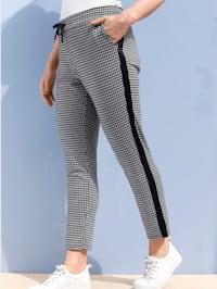 Pantalon à motif pied-de-poule mode