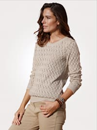 Pullover aus grobem Ajourstrick