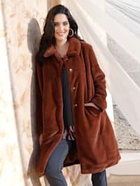 Kabát v hebkej mäkkej kvalite