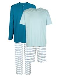 T-shirts + pantalon + short de pyjama