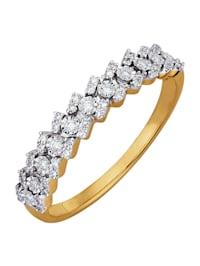 Damenring mit Diamanten und Brillanten