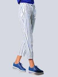 Hose im exklusivem Alba Moda Streifendessin