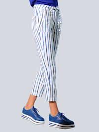 Nohavice s exkluzívnym Alba Móda prúžkovaným dizajnom