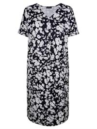 Šaty s dekorativními knoflíky na výstřihu