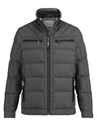 Gewatteerde jas in modieus bicolor