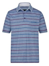 Poloshirt mit besonderem Jacquard-Muster
