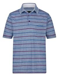Poloshirt met bijzonder jacquardpatroon