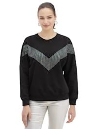 Sweatshirt met applicaties voor
