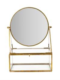 Schminkkasten mit Spiegel