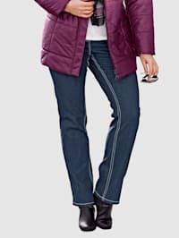 Džínsy s pohodlným pružným pásom