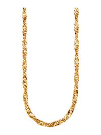 Halsband av singaporelänk av guld 18 k