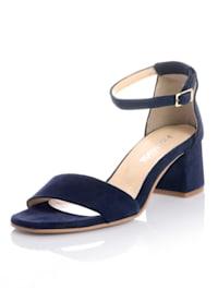 Sandales en cuir velours