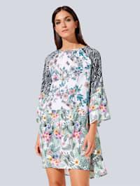 Kleid im farbharmonischem Blumendruck