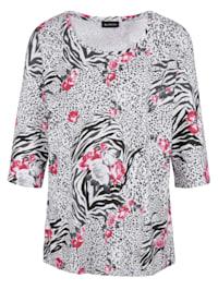 Shirt Bloemenprint rondom