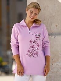 Sweatshirt met bloemendessin
