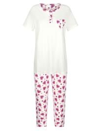 Pyjamas med hjärtformad bröstficka