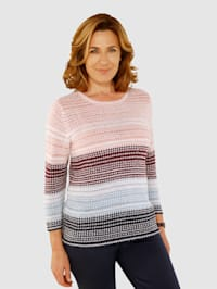 Pullover mit Bändchengarn