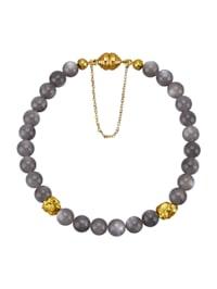 Bracelet en pierres de lune avec pépites de pyrite