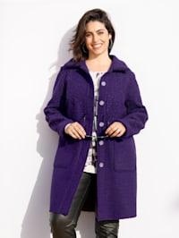 Manteau à effet superposé