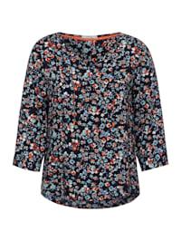 Bluse mit Minimal Print