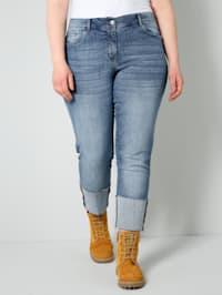 Jeans met brede omslag aan de zoom