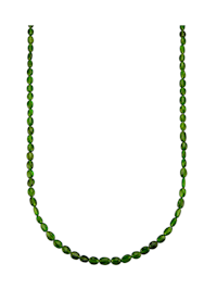 Collier aus Chromdiopsid mit Chromdiopsid