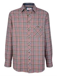 Skjorta med påsydd bröstficka